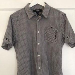 55 DSL men's shirt in blue and white check